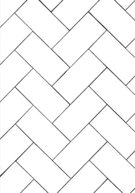 subway tiles in herringbone pattern