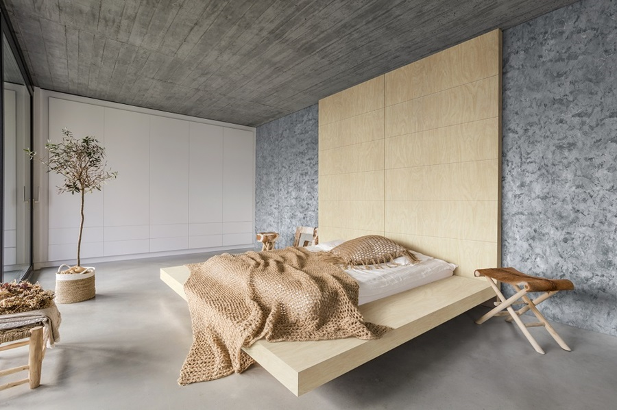 Laminex and stone custom made bed